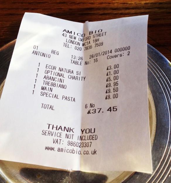 bill dinner lunch restaurant london vegan vegetarian wine