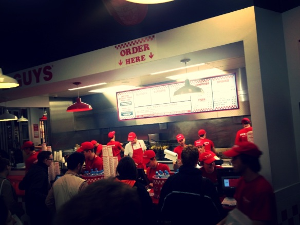 London burger fast food take away covent garden five guys