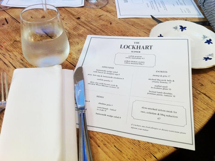 Lockheart menu dinner american oxford street eat lunch