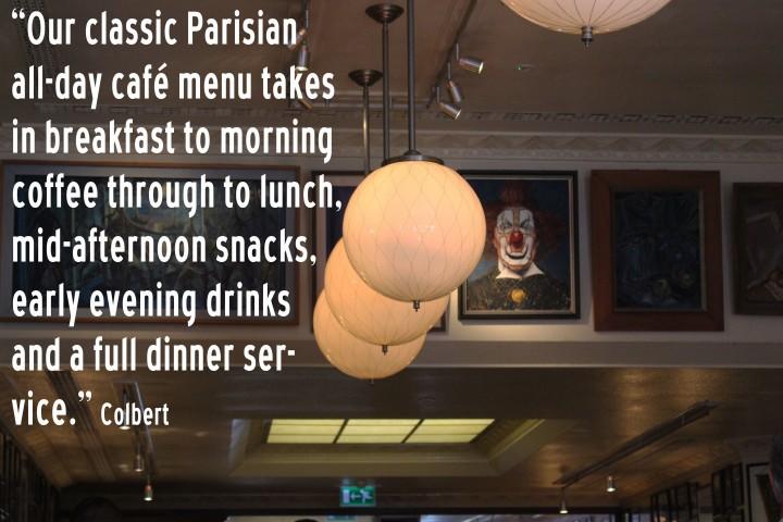 Colbert chelsea brunch lunch dinner menu