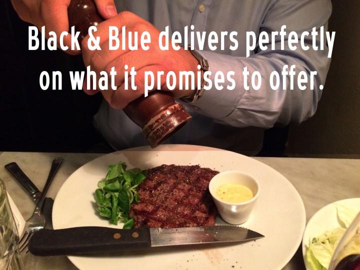 Black and blue steak restaurant oxford circus wigmore street