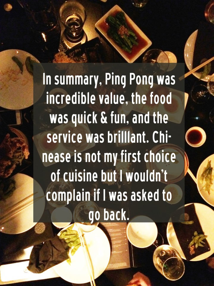 ping pong Chinese waterloo south bank menu
