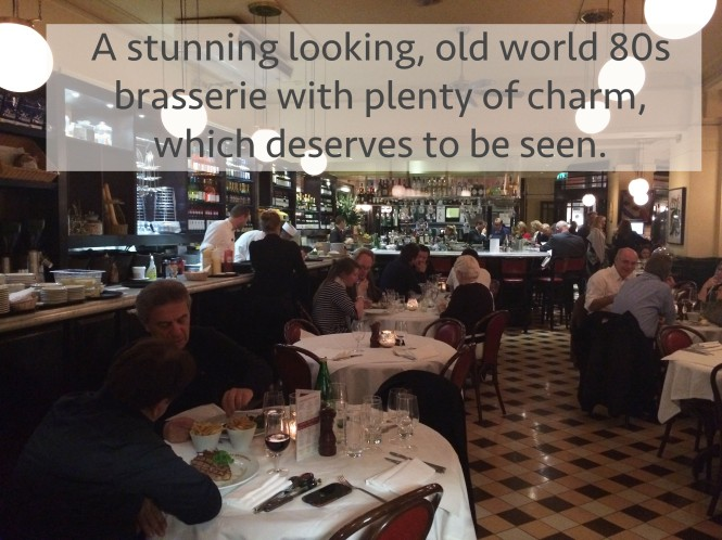 French restaurant Kensington brasserie lunch dinner