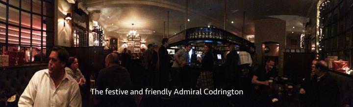 Admiral Codrington pub menu kensington