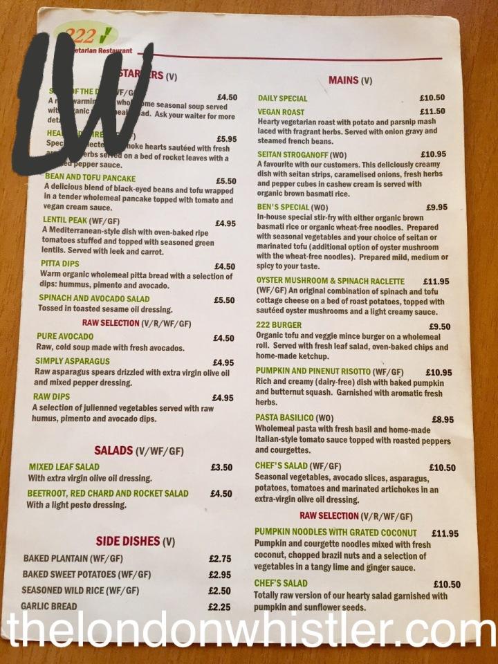 222 vegan restaurant