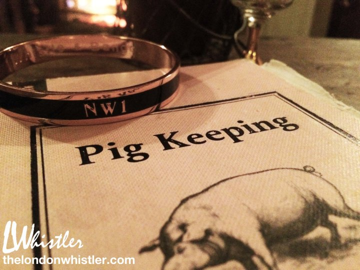 The pig hotel, menu